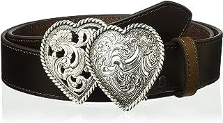 ARIAT Women's Strap Two Heart Buckle Belt