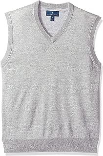 Amazon Brand - BUTTONED DOWN Men's Italian Merino Wool Lightweight Cashwool Sweater Vest