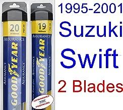 1995-2001 Suzuki Swift Replacement Wiper Blade Set/Kit (Set of 2 Blades) (Goodyear Wiper Blades-Assurance) (1996,1997,1998,1999,2000)