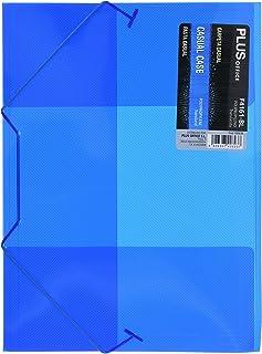 Plus Office F4161-BL - Carpeta con gomas y solapa translúcida, A4, azul