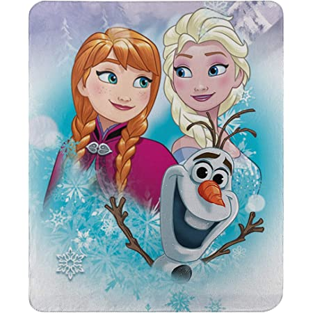 DISNEY FROZEN FLEECE BLANKET Anna Elsa Bed Throw Winter Warm Travel Gift 1.5*2M