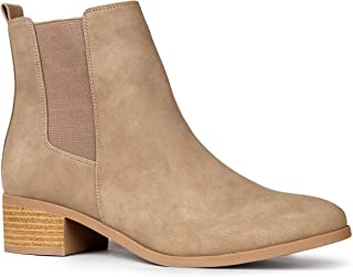 Qupid Repeat Booties | Chelsea Ankle Boots for Women with Low Heel