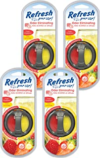 Refresh Your Car! 84022 Scented Oil Diffuser, Fresh Strawberry/Cool Lemonade, 4-Pack