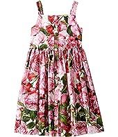 Dolce & Gabbana Kids - Rose Poplin Pleated Dress (Big Kids)