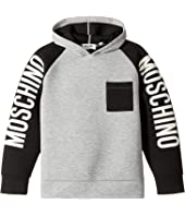 Moschino Kids - Neoprene Sweat Top w/ Logo Sleeves (Big Kids)