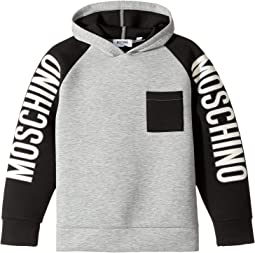 Moschino Kids - Neoprene Sweat Top w/ Logo Sleeves (Big Kids)
