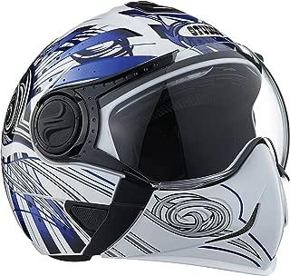 Studds Full Face Helmet Downtown D1 (White N1, M)