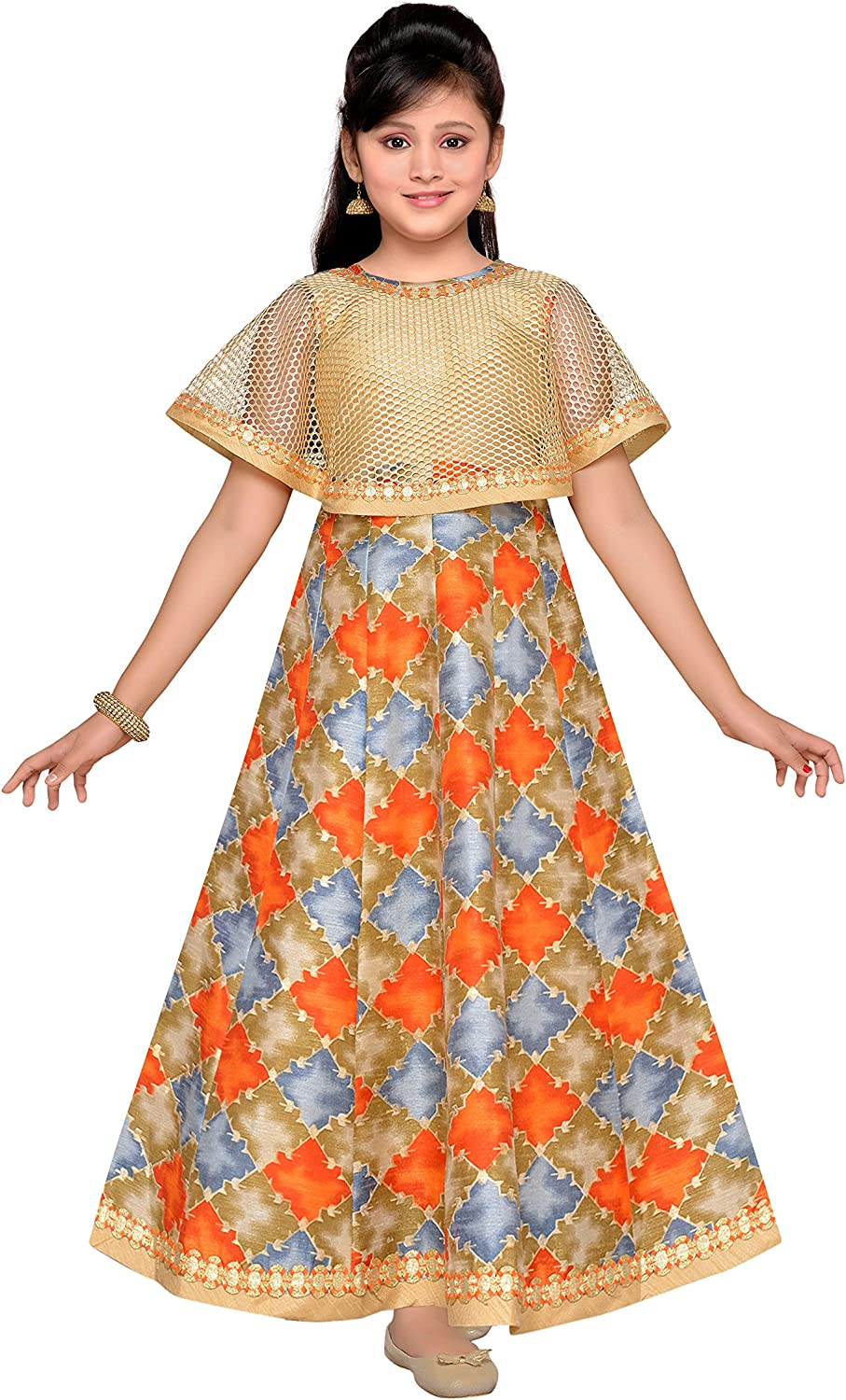 ADIVA Girl's Indian Party Wear for Kids Special Cheap mail order sales price Gown