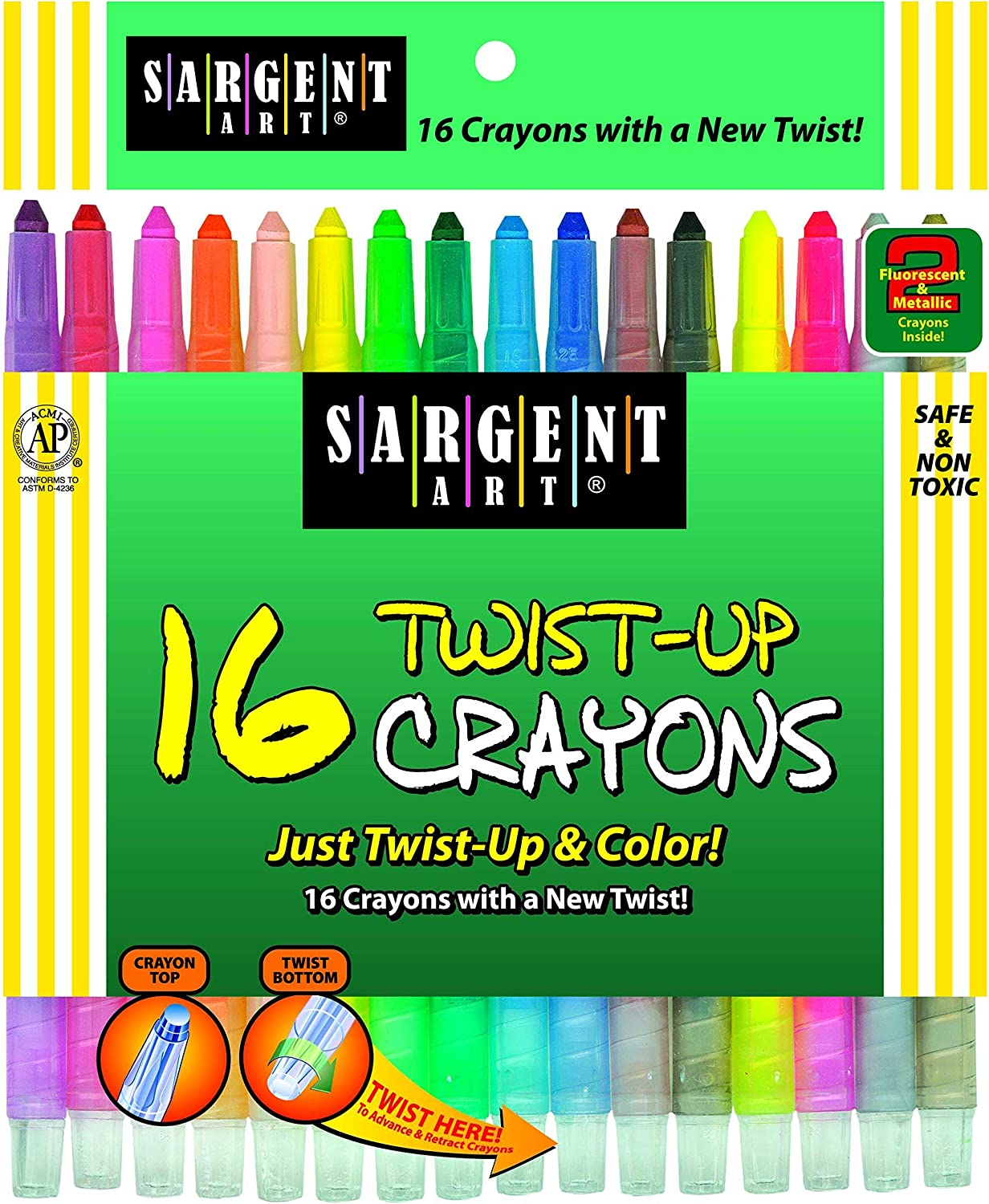 Today's only 16-Count Twist-Up-Crayons Same day shipping