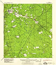 Texas Maps - 1939 Bruni, TX - USGS Historical Topographic Wall Art - 37in x 44in