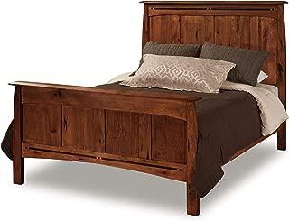 Amish Boulder Creek Solid Wood King Panel Bed, Golden Harvest Stain