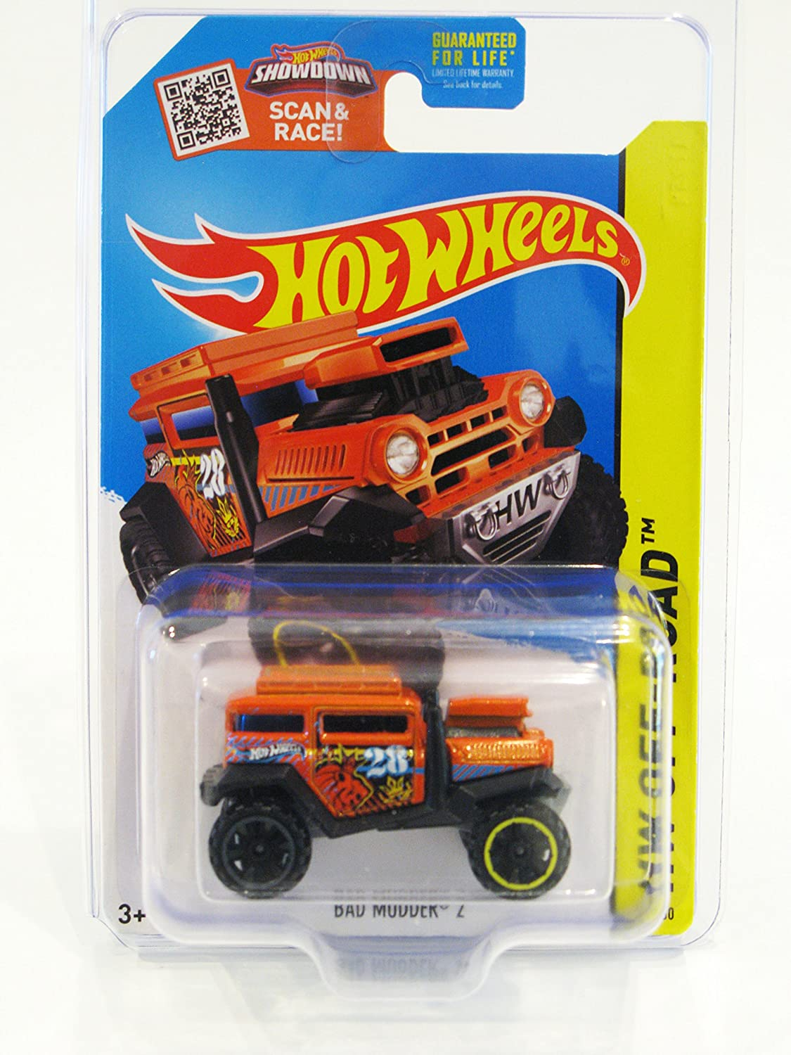 2015 Hot Wheels HW OffRoad Battle Kings Bad Mudder 2   88 250 (orange) (BlackOR6SP Wheels) in Predecto Pak