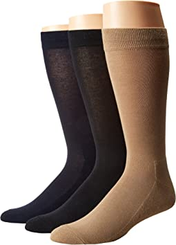Solid Sock with Half Cushion 3-Pack