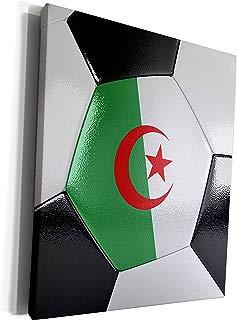 3dRose Carsten Reisinger - Illustrations - Algeria Soccer Ball - Museum Grade Canvas Wrap (cw_181207_1)