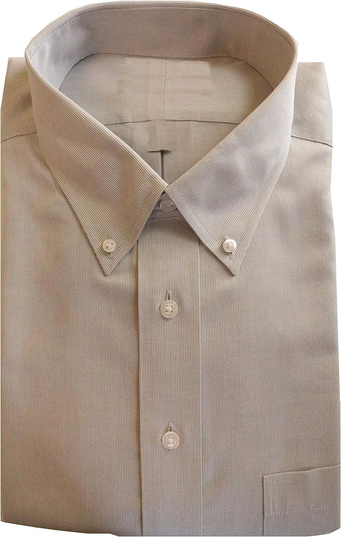 Gold Label Roundtree & Yorke Non-Iron Regular Button Down Stripe Dress Shirt G16A0177 Grey