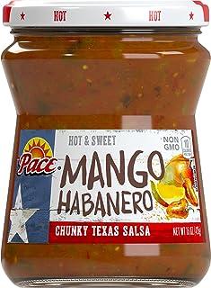 Pace Mango Habanero Salsa, Hot, 15 oz. Glass Jar