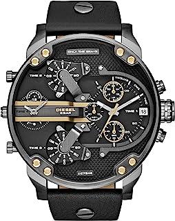 Diesel Mr. Daddy For Men Analog Leather Band Watch Dz7348, Quartz