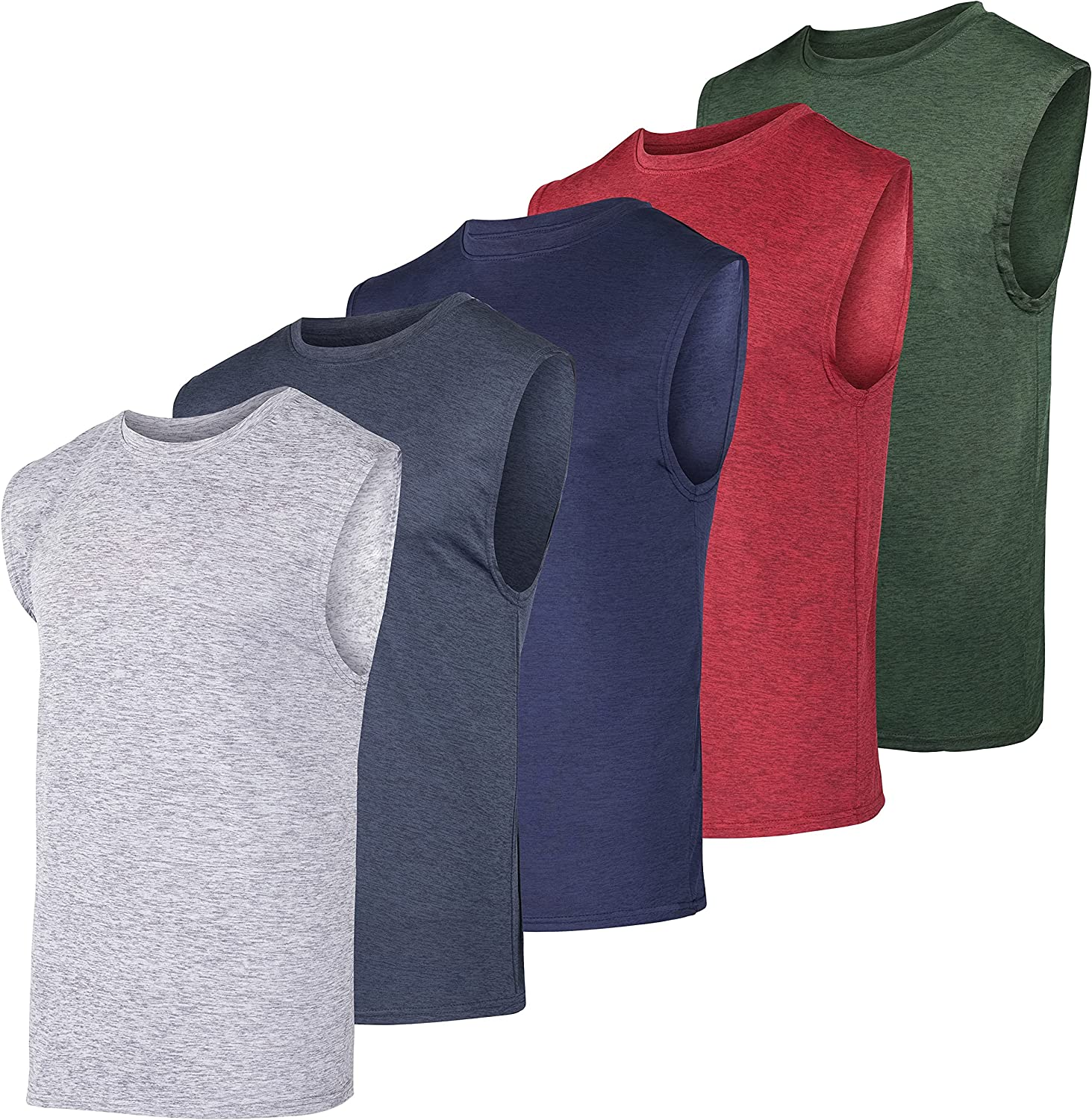 5 Pack: Men's Ranking TOP1 Dry-Fit Active Athletic Max 72% OFF Top Workout Tank Tech -