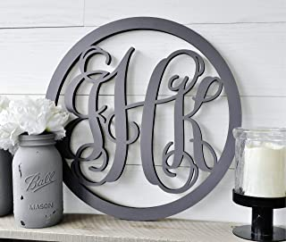 Personalized Vine Monogram Wood Cutout
