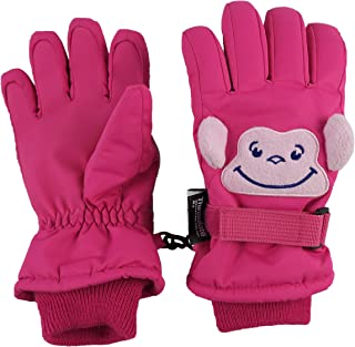 Little Kids Squeaky Sound Cute Animal Face Waterproof Gloves
