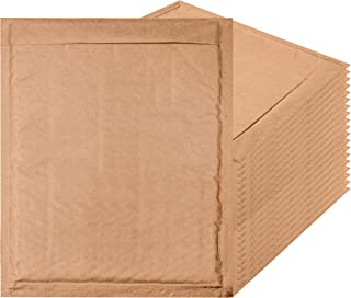 Amiff Natural Kraft Bubble mailers 8.5 x 11 Brown Padded envelopes 8 1/2 x 11. Exterior Size 9.5 x 11.5 (9 1/2 x 11 1/2). Peel and Seal. Mailing, Shipping. Pack of 20 Kraft Paper Cushion envelopes.