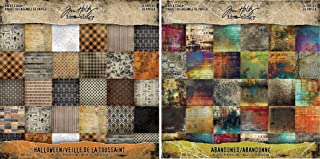 12 x 12 Inch Papers Kraft Resist Paper Stash by Tim Holtz Idea-ology TH92918 24 sheets 3 Each of 8 Designs Black