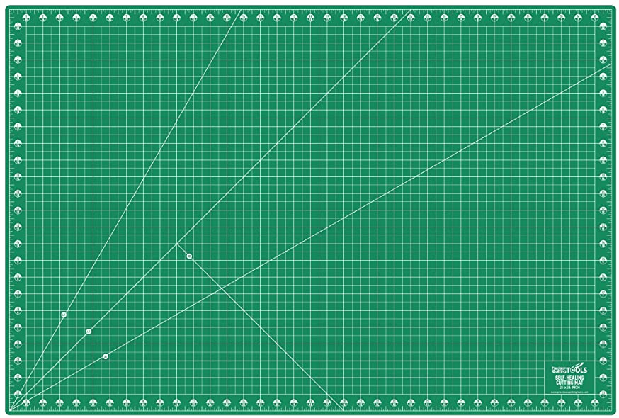Precision Quilting Tools Professional Self-Healing Double Sided Rotary Cutting Mat 24