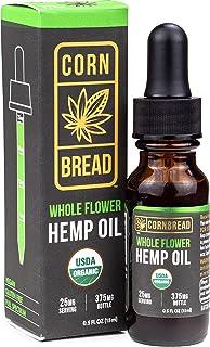 USDA Organic Hemp Oil for Stress & Sleep Relief - 375mg of Pure Hemp Oil Extract, Certified Organic Whole Flower Formula, ...