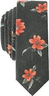 green flower tie
