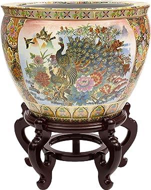 "ORIENTAL Furniture Porcelain Planter, 14"", Multicolor"