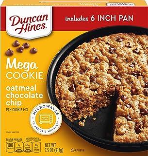 Duncan Hines Mega Cookie Oatmeal Chocolate Chip Pan Cookie Mix, 7.5 OZ