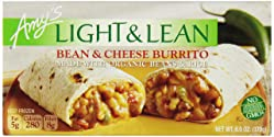 Amy's Light & Lean, Bean & Cheese Burrito, 6 oz (Frozen)
