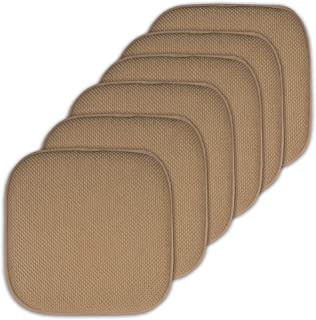 "Best Sweet Home Collection Cushion Memory Foam Chair Pads Honeycomb Nonslip Back Seat Cover 16"" x 16"" 6 Pack Taupe Reviews"
