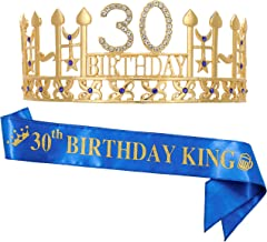 30th Birthday Gifts for Man,30th Birthday Crown and