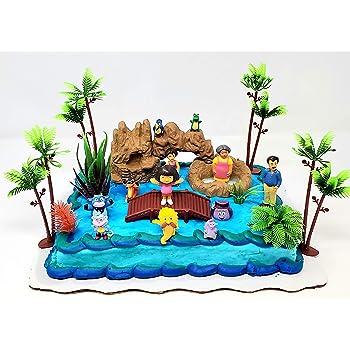 DecoPac Dora the Explorer Jungle DecoSet Cake Topper Decopac Toys 18078