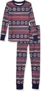 Amazon Essentials Boys Snug-Fit Cotton Pajamas Sleepwear Sets