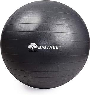 BIGTREE (2020 Upgrade Yoga Ball Exercise Fitness Core Stability Balance Strength Anti-Burst Heavy Duty Prenatal Birthing Y...