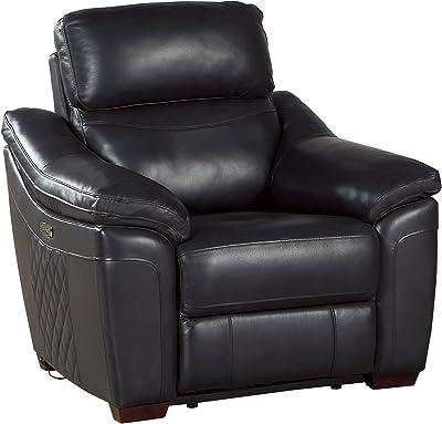 Homelegance Renzo Power Reclining Chair, Dark Gray Leather