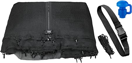 Trampoline Replacement Enclosure Net, Fits For All Sizes Round Frames (All brands), Works with multiple amount of poles - Pole Caps Included