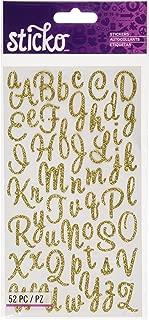 Sticko EK Success, Sweetheart Gold Script Alphabet Sticker
