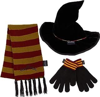 Harry Potter Czapka dla dzieci zestaw rękawiczek, szalik Gryffindor i kapelusz czarodziejski, zestaw akcesoriów dla dziewc...