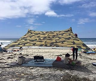 Neso 帐篷 Grande 海滩帐篷 7 英尺高 9 x 9 英尺,加固边角和冷藏袋