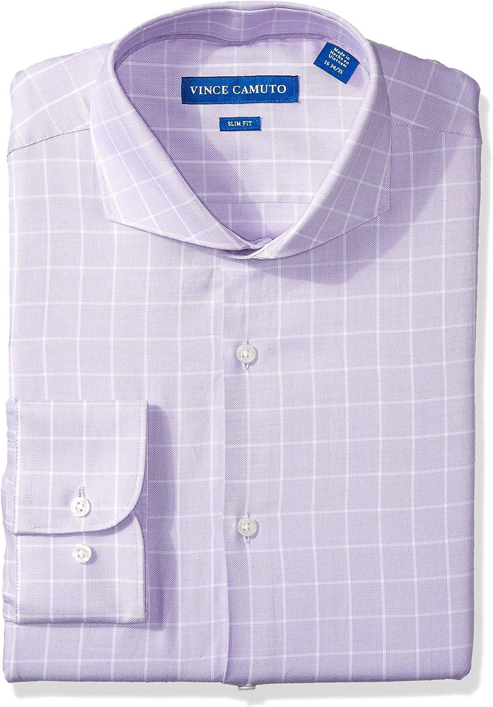 Vince Camuto Men's Slim Fit Windowpane Dress Shirt