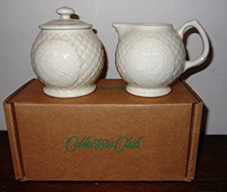 NEW Longaberger Collector's Club American Craft Originals Cream & Sugar Set - Color Ivory - NO Membership Number Required!