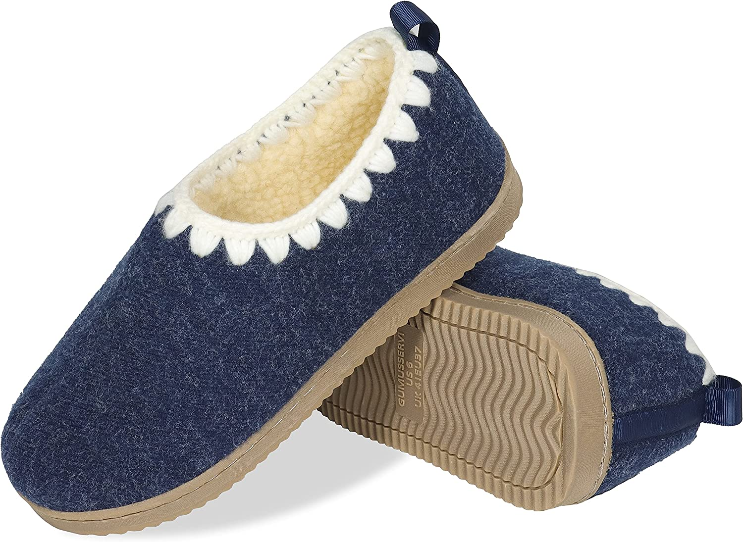 Quality inspection Gumusservi Women's Cozy Memory Over item handling ☆ Foam with Hand Slippers Crocheted