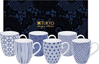 TOKYO design studio Nippon Blue, 6 Tassen Set in dekorativer