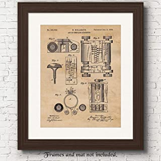 Original First Computer Patent Poster Prints, Set of 1 (11x14) Unframed Photo, Great Wall Art Decor Gifts Under 15 for Home, Office, Garage, Man Cave, College Student, Teacher, Smart Devices Fan