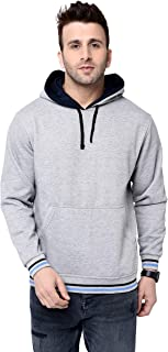 EPG Men's Fleece Sweat Shirt with Hood - Black