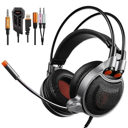 Sades SA-929 Auriculares Gaming sonido envolvente 7.1 USB 3.5MM Con Micrófono Compatibilidad multiplataforma