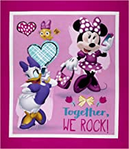 Springs Creative Products Disney Minnie Happy Helpers Together We Rock Panel Pink Fabric